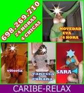 Caribe relax 4 nuevas señoritas las 24 horas en Ametlla de Mar, Tarragona