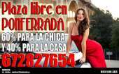 Plaza libre en ponferrada 672827654