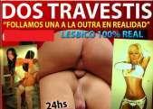 Solo 60 euritos con las dos viciosas travestis amigas fiesteras caneras 24hs