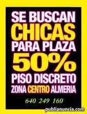 Plaza en almeria capital centro max 2 chicas