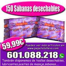 Oferta de 150 sabanas desechables a solo 59 99