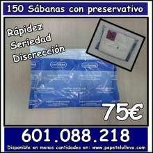 150 sabanas con preservativos por 75