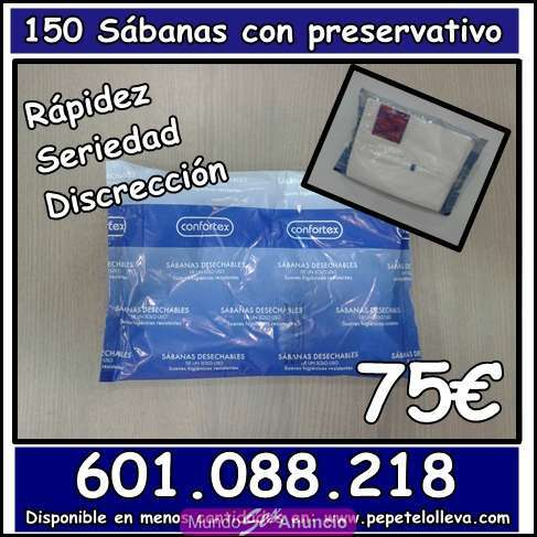 150 sabanas desechables no ajustables a 59 29