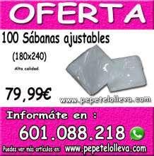 100 sabanas desechables ajustables de buena calidad a 79