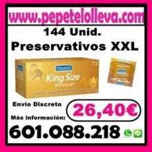 26 40 144 preservativos xxl marca pasante