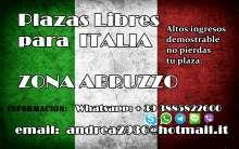 Plazas libres en italia