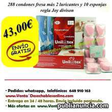 288 condones unilatex fresa