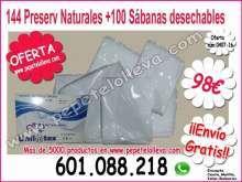144 preservativos naturales 100 sabanas ajustables 98