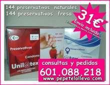2 cajas de 144 preservativos por 31 oferton