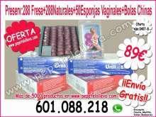 Super oferta 576 preserv y 50 esponjas vaginales 89
