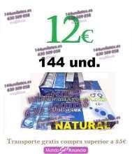 12 caja 144 preservativos unilatex natural