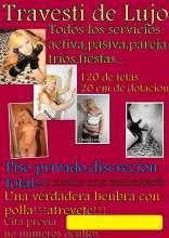 Travesti rubia wapisima fiestera en roquetas de mar