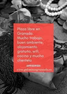 Plaza libre para granada 24horas 2000 3000 semanales