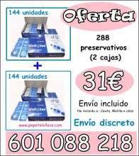 OFERTA 2 CAJAS DE PRESERVATIVOS 31€ ENVIO INCLUIDO