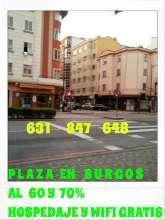 Plaza en burgos 60y70 para senoritas de buen perfil