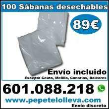 100 sabanas desechables ajustables 89 envio incluido