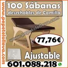 100 sabanas desechables de camilla a 77 76 envio incluido