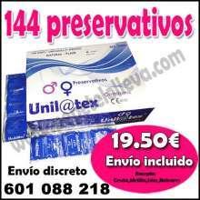 Caja 144 condones por 19 50 fresa o natural envio inclu