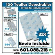 100 toallas desechables 40x80 32 envio incluido