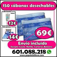 150 sabanas desechables envio incluido 69 slm01