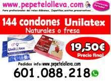 144 preservativos naturales o fresa 19 50