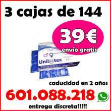 3 cajas de 144 preservativos por 39 naturales o fresa