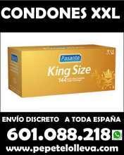 144 preservativos xxl pasante 32 envio incl para a