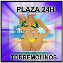 Plaza 24 horas en piso privado para chica rubia negra