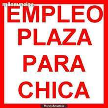 plaza trabajo para chicas ESPAÑOLAS Y LATINAS JOVENES