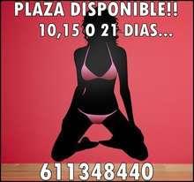 PLAZA DISPONIBLE DE 10,15 o 21 DIAS,EXELENTES INGRESOS!!