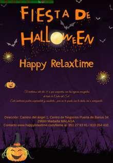 Fiesta de halloween en happyrelaxtime en Málaga puerto banus