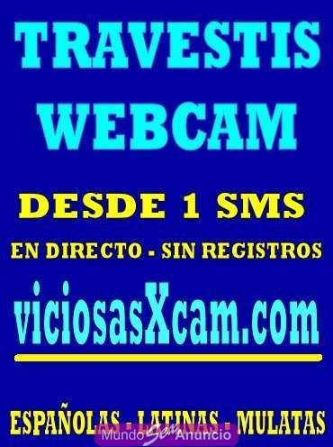 Transexuales y travestis - Chat porno por webcam de travestis solo 1 sms en vivo - Málaga