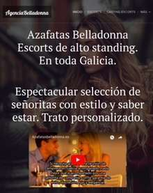 Agencia de escorts de alto standing en toda galicia