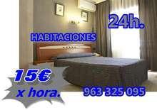 Habitaciones por horas 15 euros