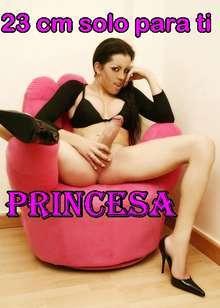 En tortosa princesa trans megadotada canera muy viciosa