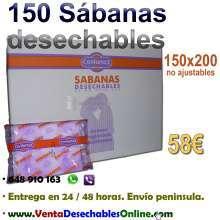 Caja 150 sabanas desechables envio gratis
