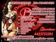 Desire escorts looking for beautiful girls 18 30 years