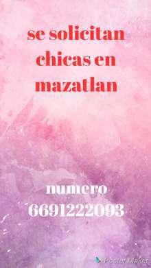 Se solicitan chicas en mazatlan